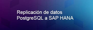 Replica PostgreSQL a SAP HANA